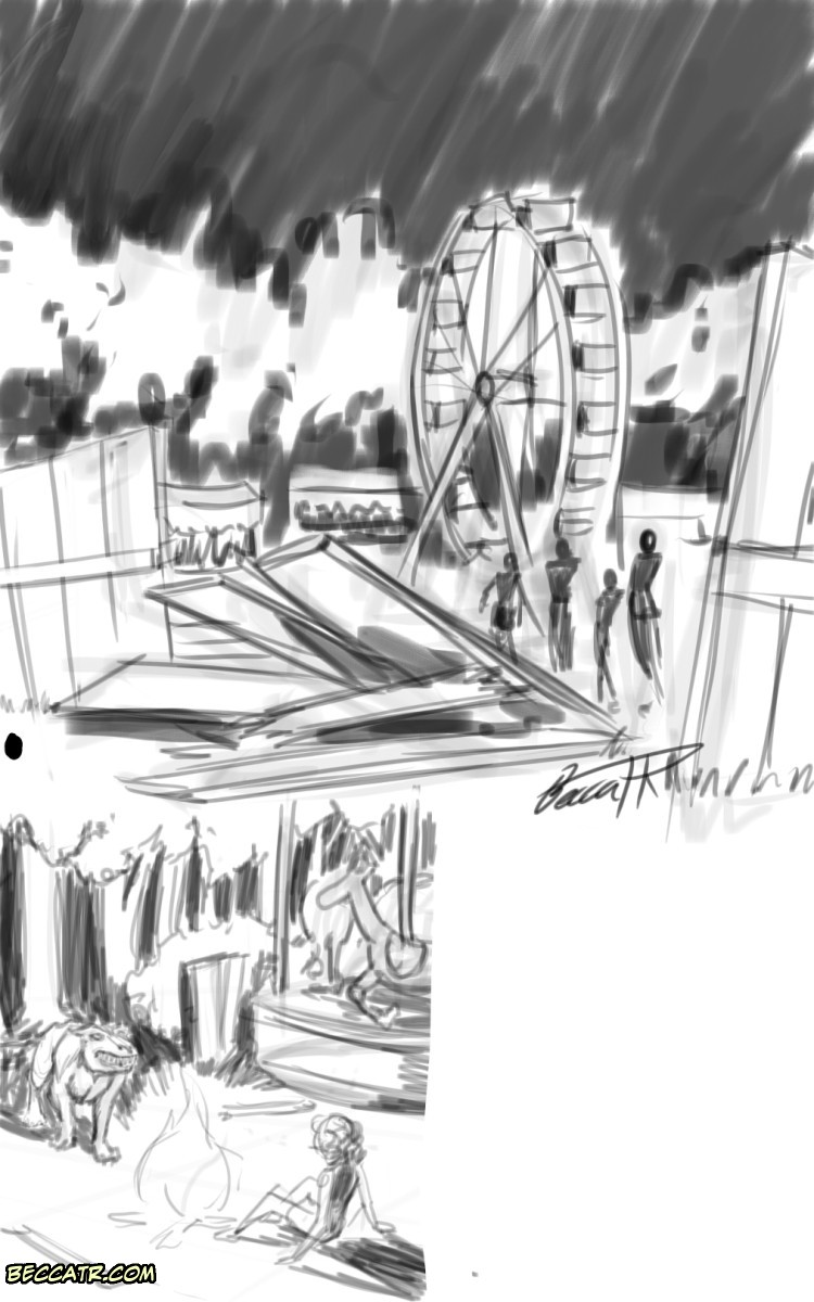 carnival world sketch